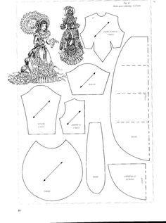 DOLL PATTERN PATRON LA MODE ILLUSTREE vêtement poupée ancienne n° 48 de 1885