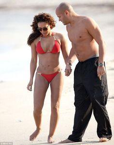 Mel B and husband Stephen Belafonte at the beach, Sydney Australia