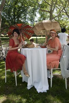 On the grounds of the Jazz Age Lawn Party in New York City.