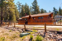 Inviting 3BR Big Bear Lake Cabin w/Wifi, Private Hot Tub, Wood Burning Fireplace & Lake Views - Just A Short Walk to Lake Access & 1 Mile From the Village! #travel #california