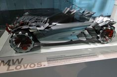 BMW Lovos -  BMW outdid itself with the Lovos. This car features interchangeable parts on the body that resemble fish scales which act as air brakes and also harvest energy from the sun. The Lovos made its first appearance in 2010..