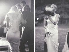 Carolyn Bessette Kennedy con su vestido de novia