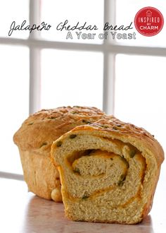 Jalapeño Cheddar Bread // via Inspired by Charm's 'A Year of Yeast'. Get the recipe here: www.inspiredbycha...