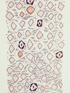 Art for a challenge called Inktober by a pattern-based blog on tumblr called patternperdiem. There are various shapes, hatchings, and some unique parts with what look like eyes to me. The repetition of shapes makes for a good pattern while the more unique ones help add creativity.  Source: http://patternperdiem.com/post/151688723094/inktober-pattern-721-not-a-name-part