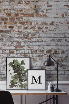 Use smaller space to your advantage and go for a bold look. A realistic brick wallpaper (like this from Murals Wallpaper) can give your home that rough-luxe look with no fuss at hall. Find more ideas at housebeautiful.co.uk