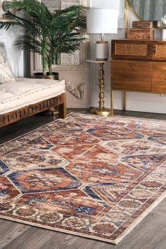Tribal Hex Rug: Capture the look of timeless grandeur with our Temptation collection. Each piece blends rich colorations with opulent patterns reminiscent of times past. Machine woven using 100% Polyester