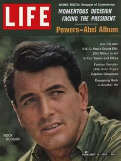 Rock Hudson on the cover of Life Magazine, February 1962