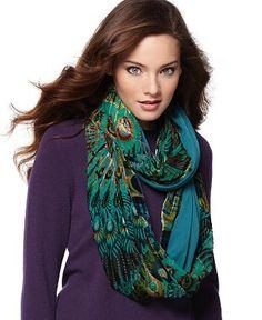 UK Seller NEW Beautiful Cerise Peacock Feather /& Flower Print Ladies Scarf