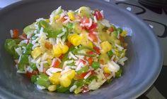 Rýžový salát se zeleninou a hořčičným dressingem