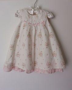 Janie And Jack Signature Layette Girl Floral Dress With Bloomers 3 To 6 Months #JanieandJack #DressyEverydayHolidayWedding $19.99