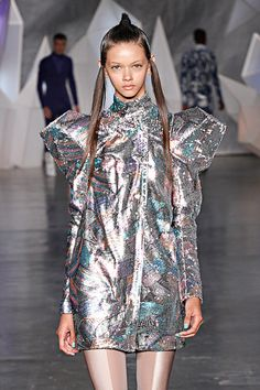 Futuristic Fashion, Silver Clothing, Future Girl