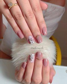 142 top class bridal nail art design for spring inspiration page 17 Elegant Nails, Stylish Nails, Pink Nails, My Nails, Oxblood Nails, Magenta Nails, Nagellack Design, Bridal Nail Art, Bride Nails