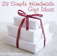 Have a simpler, more affordable Christmas this year with heartfelt handmade gifts!