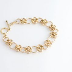Enso Chainmaille Bracelet in Gold Filled by rainestudios on Etsy