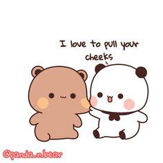 Cute Bear Drawings, Cute Couple Drawings, Cute Couple Pictures, Cute Cartoon Images, Cute Love Cartoons, Bear Wallpaper, Galaxy Wallpaper, Best Friend Status, Love Fight