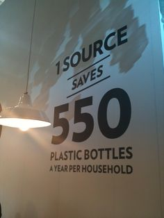the source instead of 550 plastic bottles and the water tastes good.
