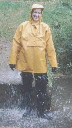 Back in the forest b 038 Pvc Raincoat, Yellow Raincoat, Rain Gear, Overall, Rainy Days, Women Wear, Lady, Womens Fashion, Farmer