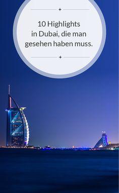 In Dubai gibt es zahlreiche Sehenswürdigkeiten. Diese 10 Highlights sollten Sie jedoch nicht verpassen: http://dubai-exklusiv-hotels.de/sightseeing/ #Dubai #Dubai Sightseeing #Burj al Arab #Luxusurlaub