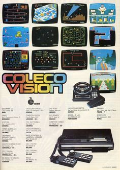 Colecovision gave new possibilities to gamers eager to leap beyond the 2600 Vintage Video Games, Classic Video Games, Retro Video Games, Vintage Games, Retro Ads, Vintage Advertisements, Childhood Toys, Childhood Memories, Mtv
