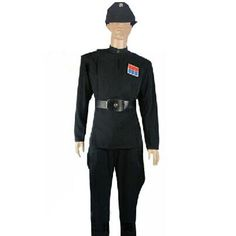 2017 New Arrival Star Wars The Imperial Officer Black Uniform Cosplay Costumes For Adults Men Halloween Costumes Custom Made #Affiliate