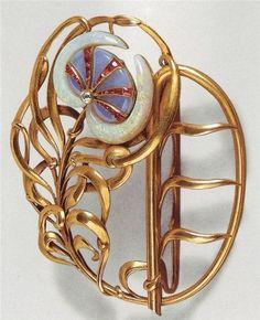 Art Nouveau jewellery by Philippe Wolfers. Belt buckle.