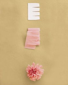 How to make a carnation out of crepe paper