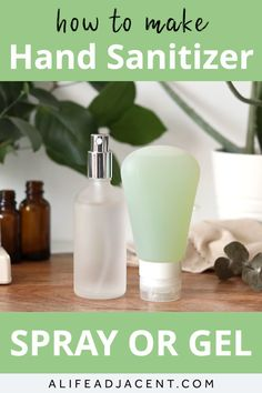 Learn how to make natural DIY hand sanitizer in a convenient spray or gel format. This easy recipe contains high proof vodka instead of rubbing alcohol. Home Made Hand Sanitizer, Natural Hand Sanitizer, Diy Sanitisers, Limpieza Natural, Cleaners Homemade, Natural Cleaning Products, Natural Cleaning Recipes, Cleaning Hacks, Hand Washing