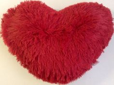 Dainty Home Decorative Throw Pillow, Heart Shape, Red Dainty Home