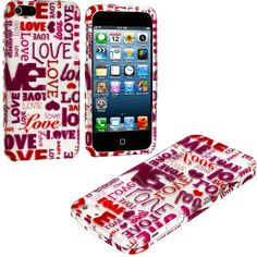 Amazon.com: myLife (TM) Shades of Pink Love Letters Series (2 Piece Snap On) Hardshell Plates Case for the iPhone 5/5S (5G) 5th Generation T...