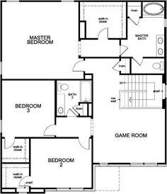 New Homes in Richmond, TX - Plan 2539, Second Floor