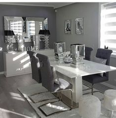 19 Dining Room Ideas >> For More Dining Decor Ideas Dining Room Table Decor, Living Room Decor Cozy, Elegant Dining Room, Luxury Dining Room, Living Room Grey, Dining Room Design, Home Living Room, Dining Tables, Dining Rooms