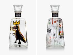 Jean Michel Basquiat for 1800 Tequila Limited Edition Bottles   Photo