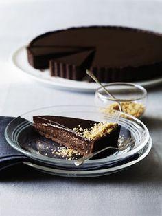 Triple chocolate praline tart, first stop