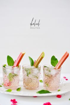 Have to give it a try! - Elderflower Rhubarb Mojitos