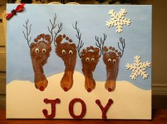 Reindeer footprint painting