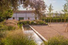 Garden at Finca Las Tentadas, Madrid Landscape Elements, Landscape Architecture, Landscape Design, Garden Design, Formal Gardens, Outdoor Gardens, Pool Water Features, European Garden, Dry Garden