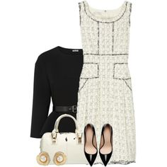 Tweed Dress, created by mhuffman1282 on Polyvore