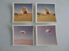 Two 3 1/2 x almost 3 1/2 color United States Air Force photographs of soldiers parasailing. A great ascetically pleasing set of photos ready to be framed. Written on the back of the photos is June 1967 para sailing at Williams AFB, AZ.