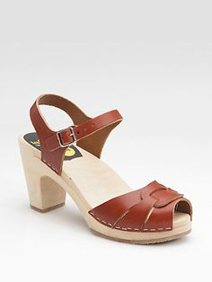 swedish hasbeens in cognac Peep-Toe Sandals