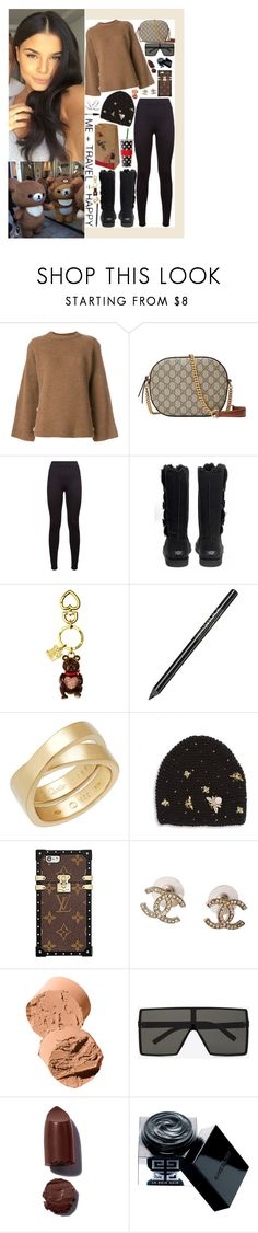 """November 12, 2017"" by alicia-rene ❤ liked on Polyvore featuring Maison Flaneur, Gucci, adidas, UGG Australia, Juicy Couture, Avon, Cartier, Jennifer Behr, Louis Vuitton and Chanel"