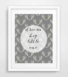 Printable Nursery Print Dream Big Little One by Designsbyritz