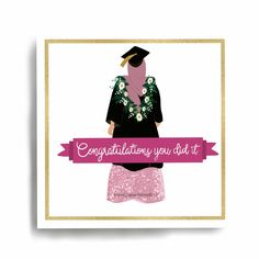 Excited to share this item from my shop: Hijabi Graduation Card - Congratulations Eid Mubarak Greeting Cards, Eid Cards, Eid Mubarak Greetings, Islamic Gifts, Islamic Art, Islamic Quotes, Personalized Bookmarks, Muslim Brides, Graduation Cards