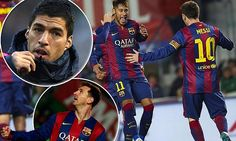 Barcelona cruised to an emphatic 6-0 win at La Ligaminnows Elche on Saturday to move within one point of rivals Real Madrid at the top of the table but birthday boy Luis Suarez missed out.