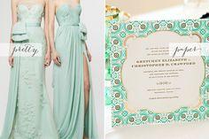 mint and gold wedding   Carolina Herrera Resort 2013 Collection ( via Style.com ) + Dauphine ...
