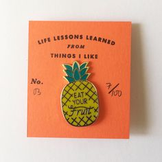 Life lesson enamel pin by kookoobird on Etsy