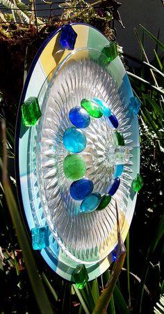 Glass Garden Flower Plate
