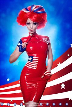 Stars and Stripes Outfits   stars and stripes latex dress