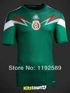 2cad7e1e6 New 2014 world Cup Home Mexico soccer jerseys Green football jerseys soccer  uniform shirts mexico team