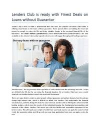Get best deals on Loans without guarantor