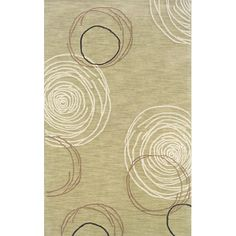 I pinned this Mantra Circles Rug in Ivory from the Oak Orchard Studios event at Joss and Main!